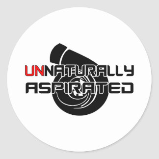 Unnaturally Aspirated Round Stickers