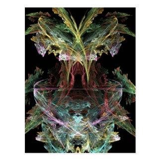uno-colorido-fractal tarjetas postales