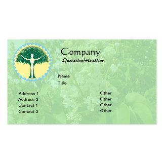 Uno con el fondo de la lila del diseño w/white plantillas de tarjetas de visita
