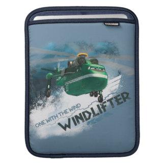 Uno con el gráfico del viento fundas para iPads