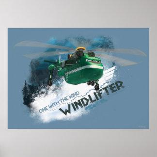 Uno con el gráfico del viento póster