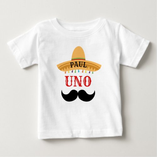 Uno Custom Birthday Baby T_Shirt
