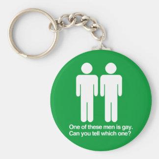 UNO DE ESTOS HOMBRES ES GAY PUEDE USTED DECIR CUÁL LLAVERO REDONDO TIPO PIN