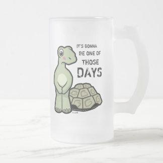 Uno de la tortuga linda de esos días tazas de café