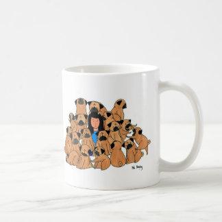 Uno de los barros amasados tazas de café
