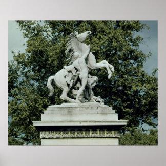 """Uno de los dos """"caballos margosos"""", 1739-45 poster"""