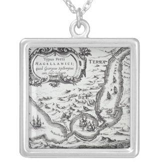 Uno de los mapas más tempranos del Magellan Colgante Cuadrado