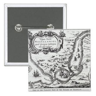 Uno de los mapas más tempranos del Magellan Pin Cuadrado