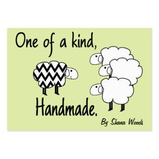 Uno de una etiqueta colgante buena de las ovejas tarjetas de visita grandes