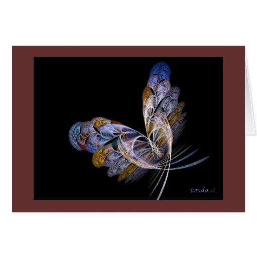 Uno de una tarjeta buena de la mariposa