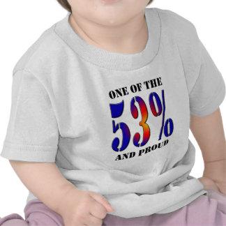 Uno del 53 por ciento y del contribuyente orgullos camisetas