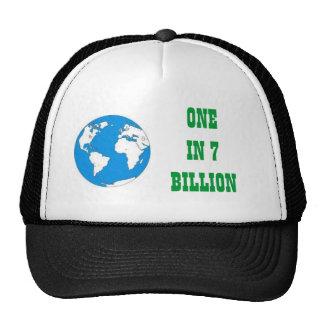 Uno en 7 mil millones gorras