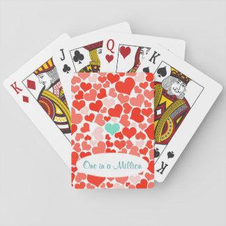 Uno en tarjeta del día de San Valentín de millón Barajas De Cartas