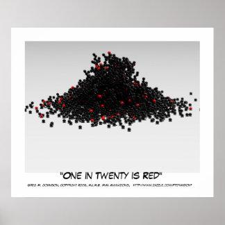 Uno en veinte es rojo posters