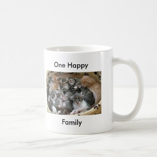 Uno feliz, arena para gatos de la familia tazas