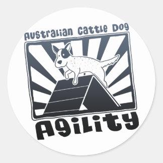 Uno-Marco australiano de la agilidad del perro del Pegatinas Redondas