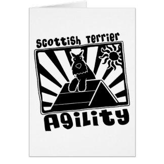 Uno-Marco de la agilidad de Terrier del escocés Tarjeta De Felicitación