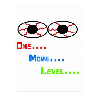 Uno… Más… Nivel… - Ojos inyectados en sangre Postal