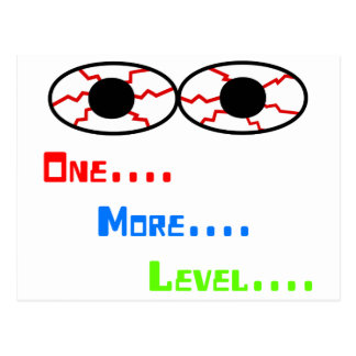 Uno… Más… Nivel… - Ojos inyectados en sangre Tarjetas Postales