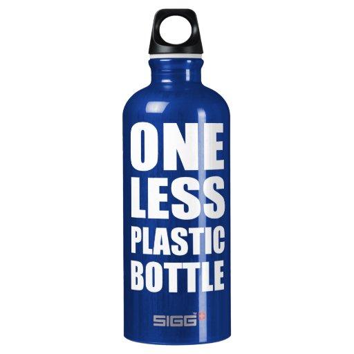 Uno menos botella plástica