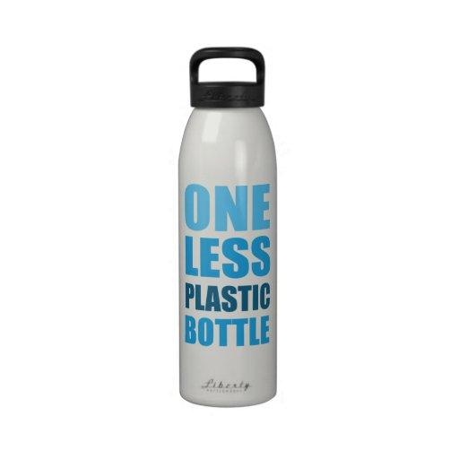 Uno menos botella plástica botellas de agua reutilizables