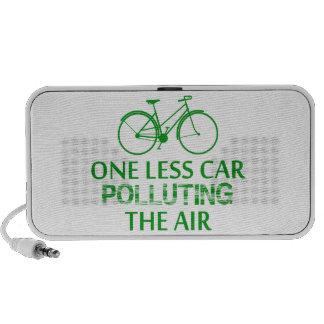 Uno menos coche que contamina el aire altavoces de viaje