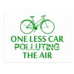 Uno menos coche que contamina el aire postales
