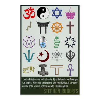 Uno menos dios el | Stephen Roberts Impresiones