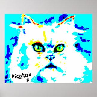 Uno mismo-Pawtrait estupendo de Picatsso Poster