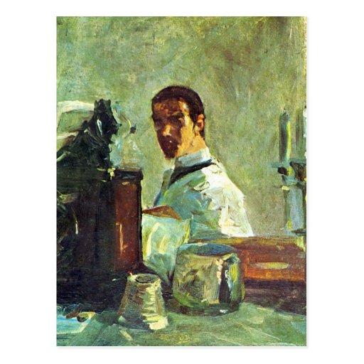 Uno mismo Portrai que mira en un espejo - Toulouse Postales