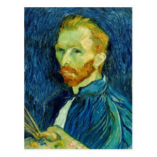 Uno mismo Portriat Vincent van Gogh 1889 Postal