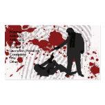 Uno morirá (2) tarjetas de visita