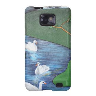 Uno-Natación de siete cisnes Samsung Galaxy SII Carcasa