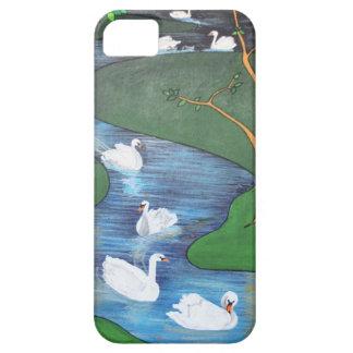 Uno-Natación de siete cisnes iPhone 5 Case-Mate Protectores