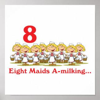 uno-ordeño de 12 criadas de los días ocho póster