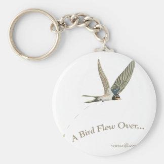 Uno-Pájaro-Volar-Sobre Llavero Redondo Tipo Pin