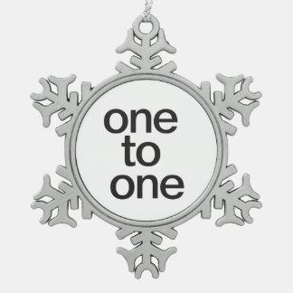 uno para todos los todos para one.ai adorno de peltre en forma de copo de nieve