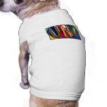 UNO ~ PERSONALIZED LARGE LETTER PET-WARE FOR DOGS! DOGGIE TEE