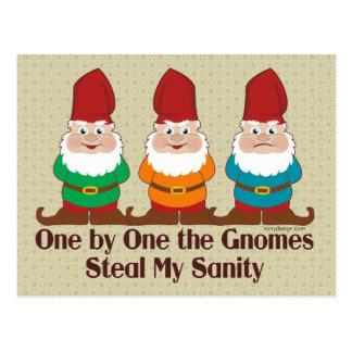 Uno por uno los gnomos tarjetas postales