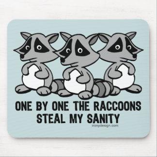 Uno por uno los mapaches tapete de ratones