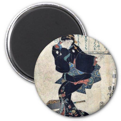 Uno por Utagawa, Kuniyoshi Ukiyoe Imán De Frigorífico
