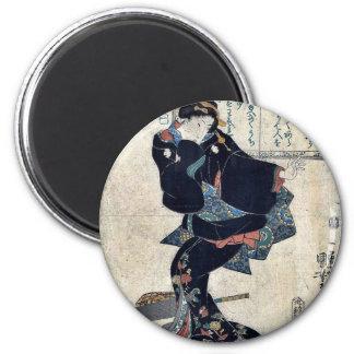 Uno por Utagawa, Kuniyoshi Ukiyoe Imán Redondo 5 Cm
