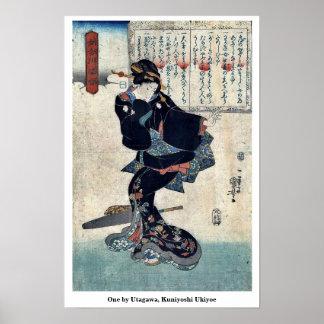 Uno por Utagawa, Kuniyoshi Ukiyoe Póster