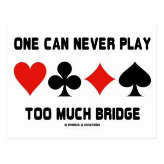 Uno puede nunca jugar demasiado puente (los juegos tarjeta postal