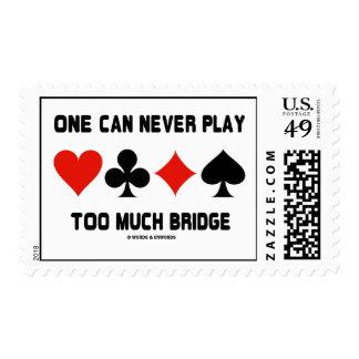 Uno puede nunca jugar demasiado puente (los juegos timbre postal