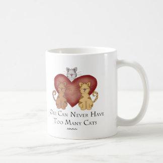 Uno puede nunca tener demasiados gatos taza de café