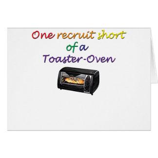 uno-recluta tarjeta de felicitación