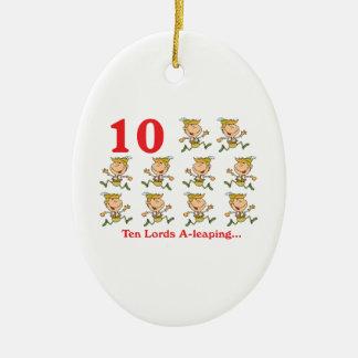 uno-salto de 12 señores de los días diez adorno