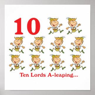 uno-salto de 12 señores de los días diez poster