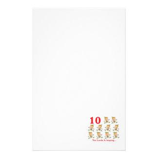 uno-salto de 12 señores de los días diez personalized stationery